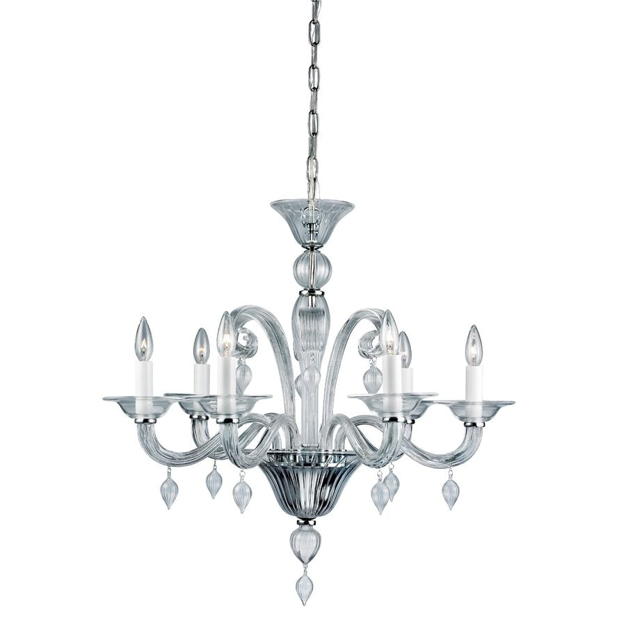 Eurofase Ciatura 29.125-in 6-Light Chrome Vintage Candle Chandelier