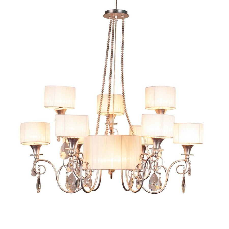 Eurofase Tempest 37-in 12-Light Aged Silver Vintage Tiered Chandelier