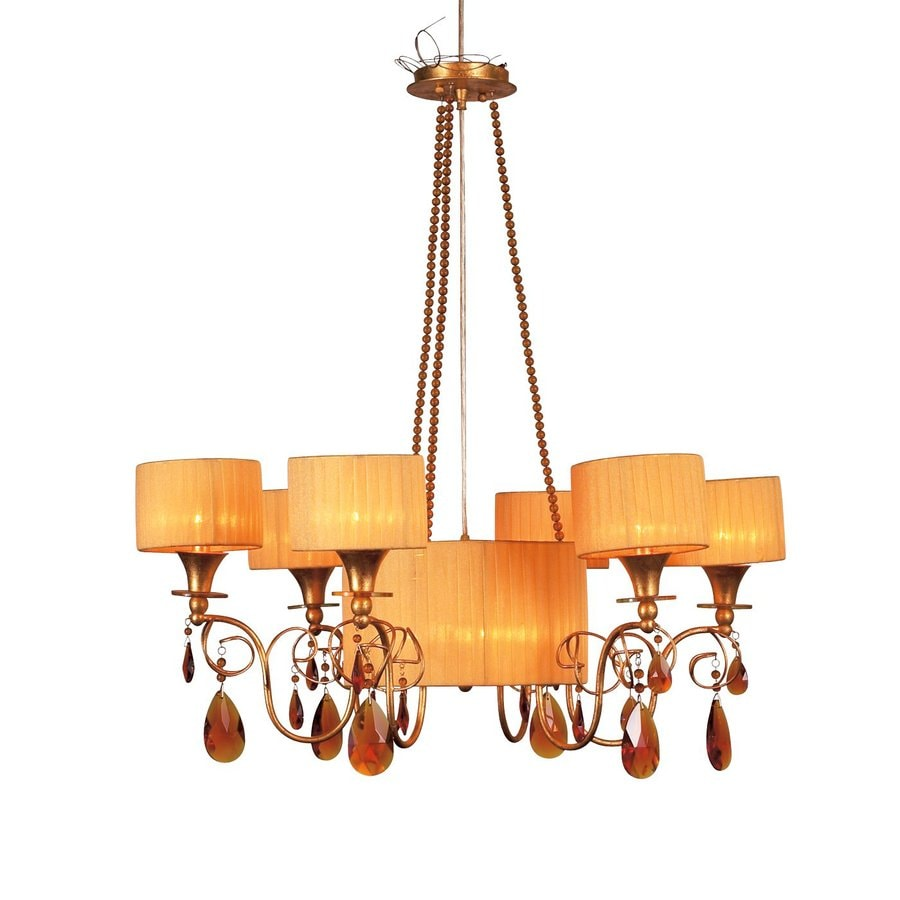 Eurofase Tempest 32-in 9-Light Aged Gold Shaded Chandelier