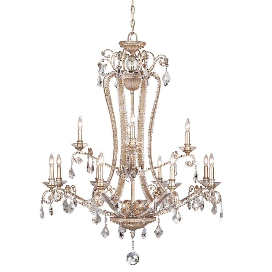 Eurofase Colavita 41-in 12-Light Antique Silver Tiered Chandelier
