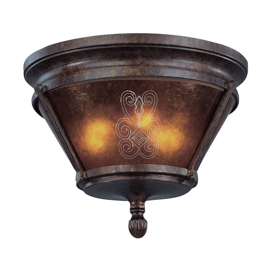 Eurofase Casanova 15-in W Antique Bronze Ceiling Flush Mount Light