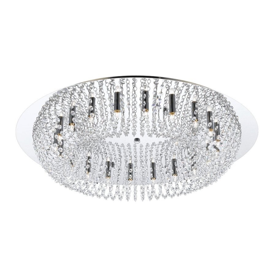 Eurofase Avalon 30.75-in W Chrome Crystal Ceiling Flush Mount Light