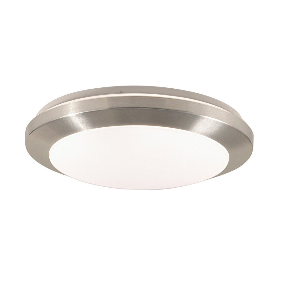 Eurofase Lucid 17.75-in W Satin nickel Flush Mount Light