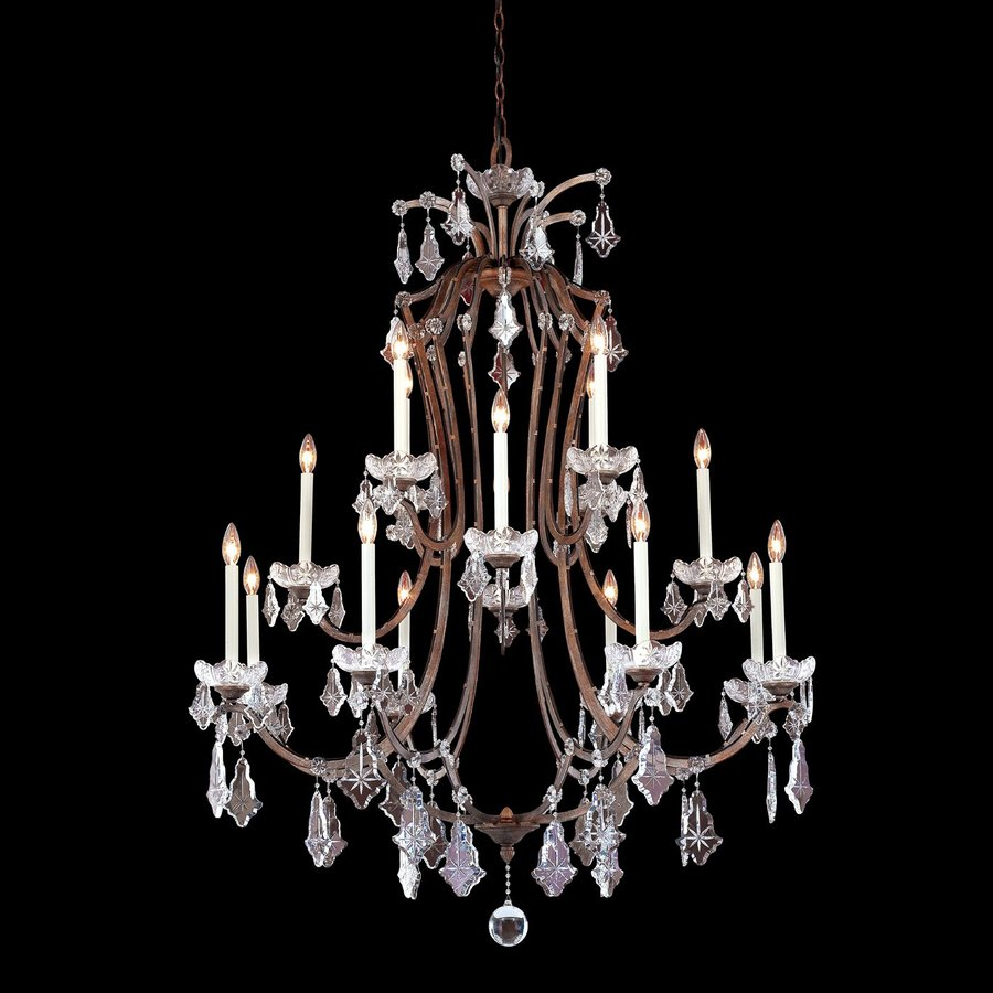 Eurofase Colette 46-in 16-Light Bronze Tiered Chandelier