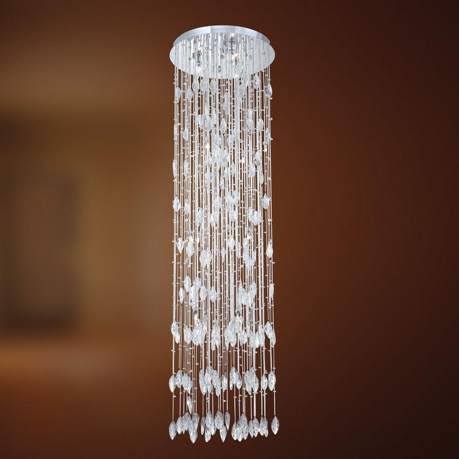 Eurofase Vega 19-in W Chrome Crystal Flush Mount Light
