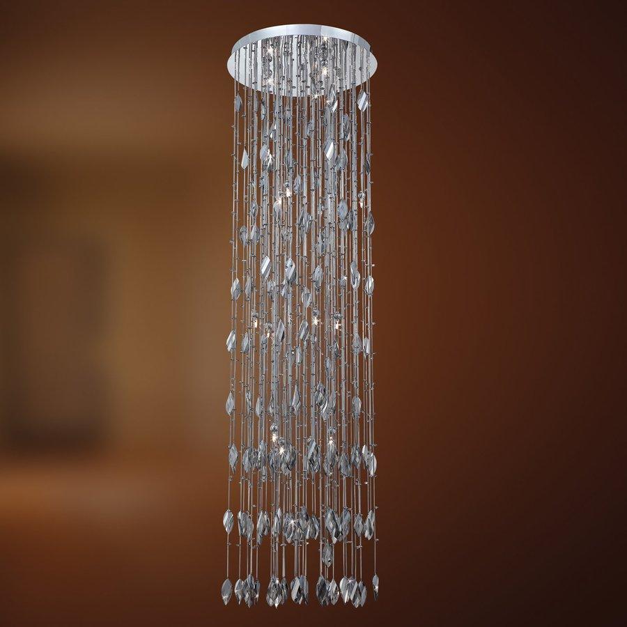 Eurofase Vega 19-in W Chrome Crystal Ceiling Flush Mount Light
