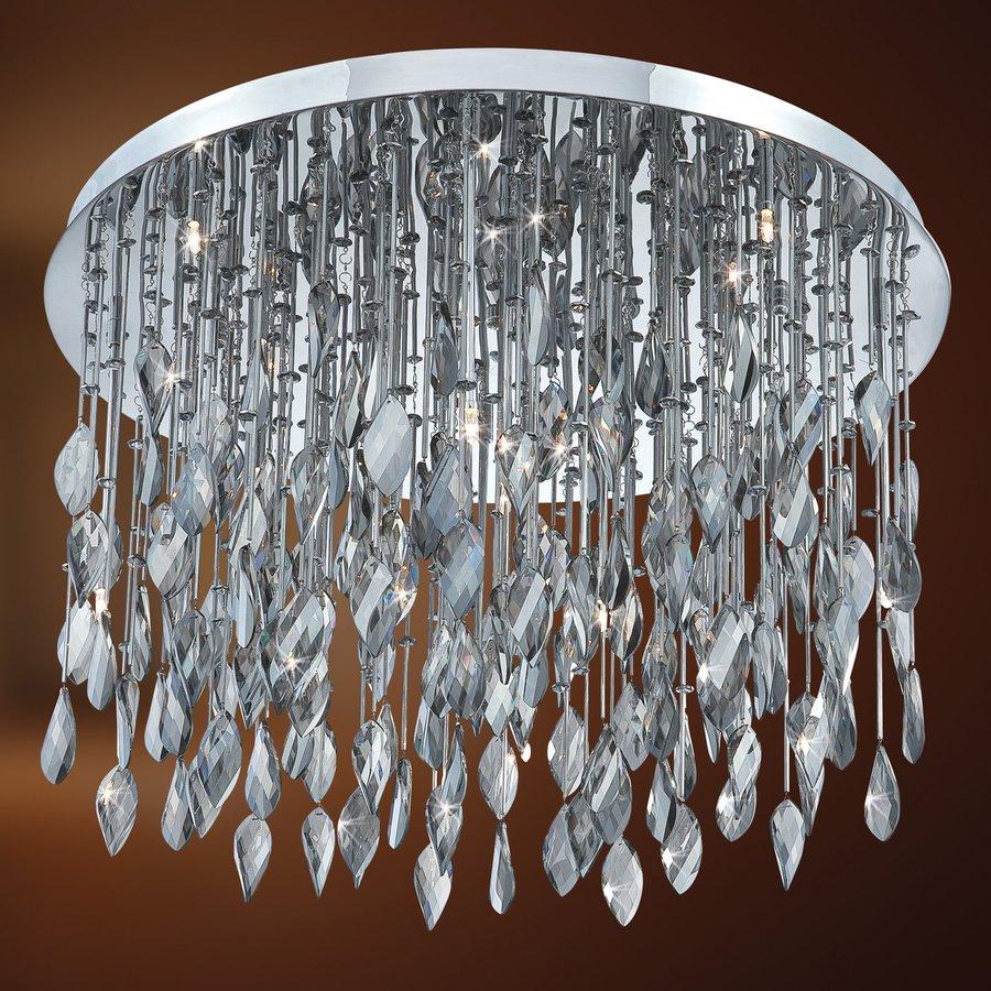 Eurofase Vega 27-in W Chrome Crystal Flush Mount Light