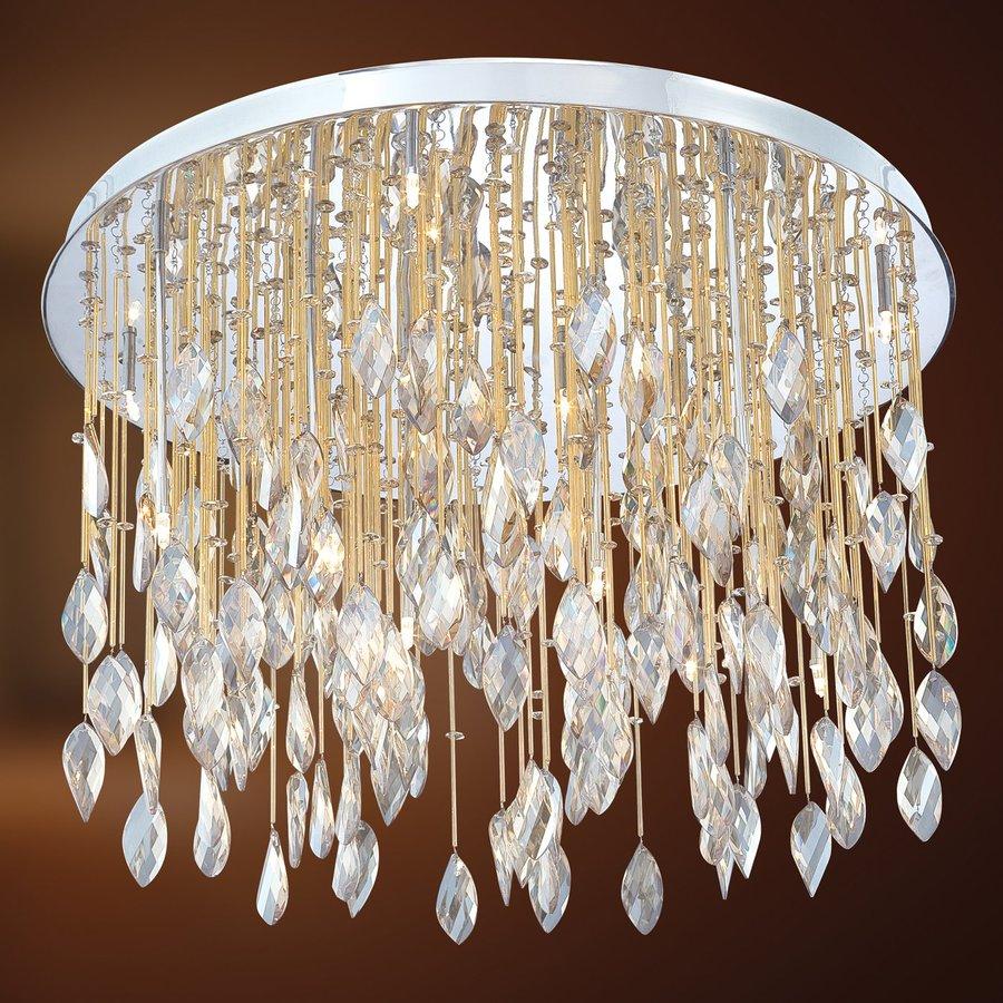 Eurofase Vega 27-in W Chrome Crystal Ceiling Flush Mount Light