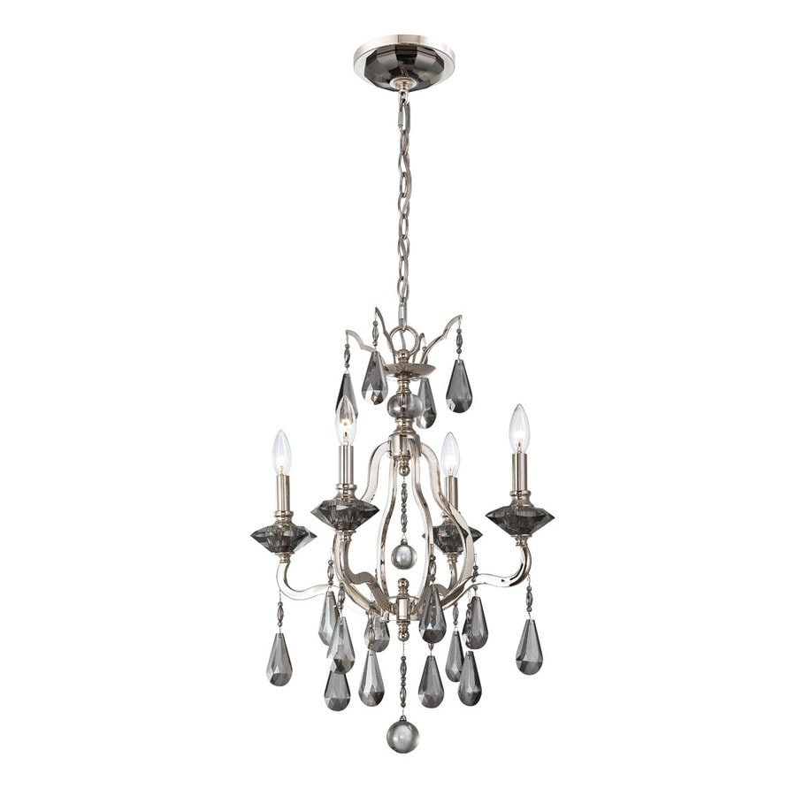 Eurofase Rosini 19-in 4-Light Polished Nickel Vintage Candle Chandelier