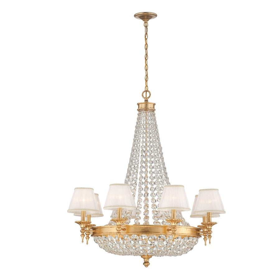 Eurofase Pietra 34-in 12-Light Gold Crystal Empire Chandelier