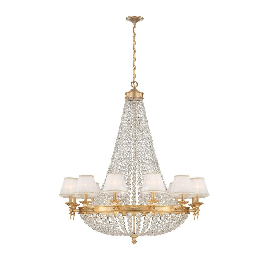 Eurofase Pietra 42-in 18-Light Gold Crystal Empire Chandelier