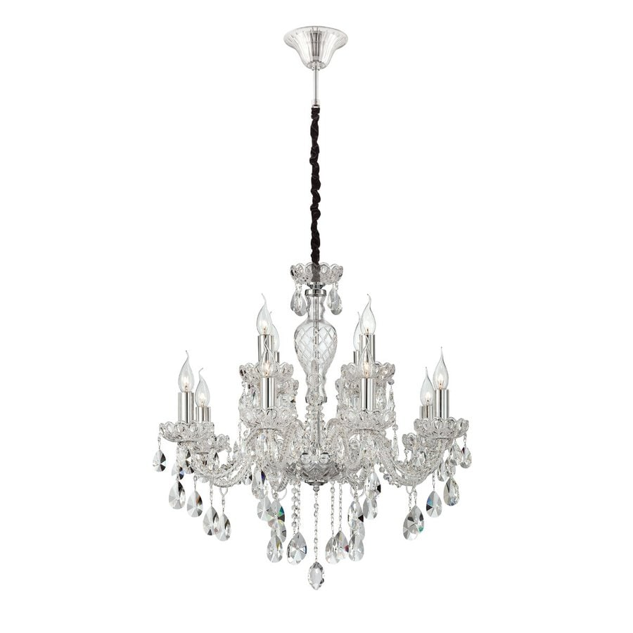Eurofase Providence 28.25-in 12-Light Clear Crystal Candle Chandelier