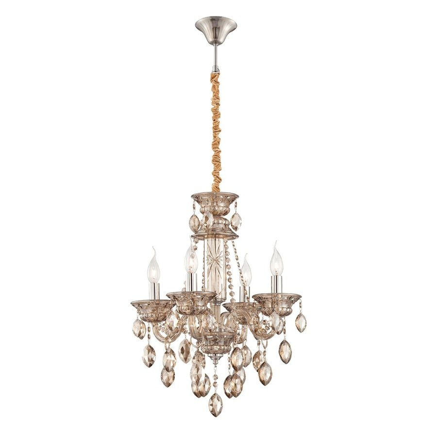 Shop eurofase venetian 4 light cognac brandy Crystal candle chandelier