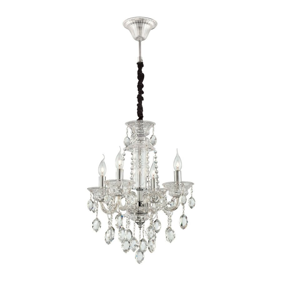 Eurofase Venetian 19.75-in 4-Light Clear Crystal Candle Chandelier