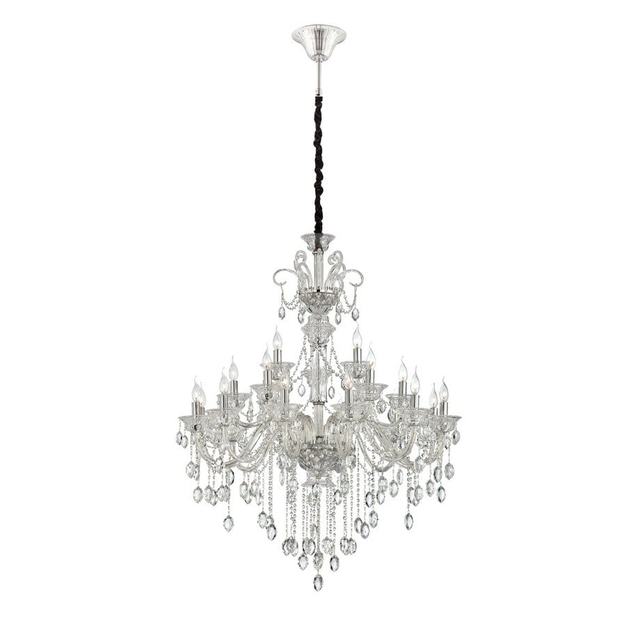Eurofase Venetian 40.25-in 21-Light Clear Crystal Tiered Chandelier