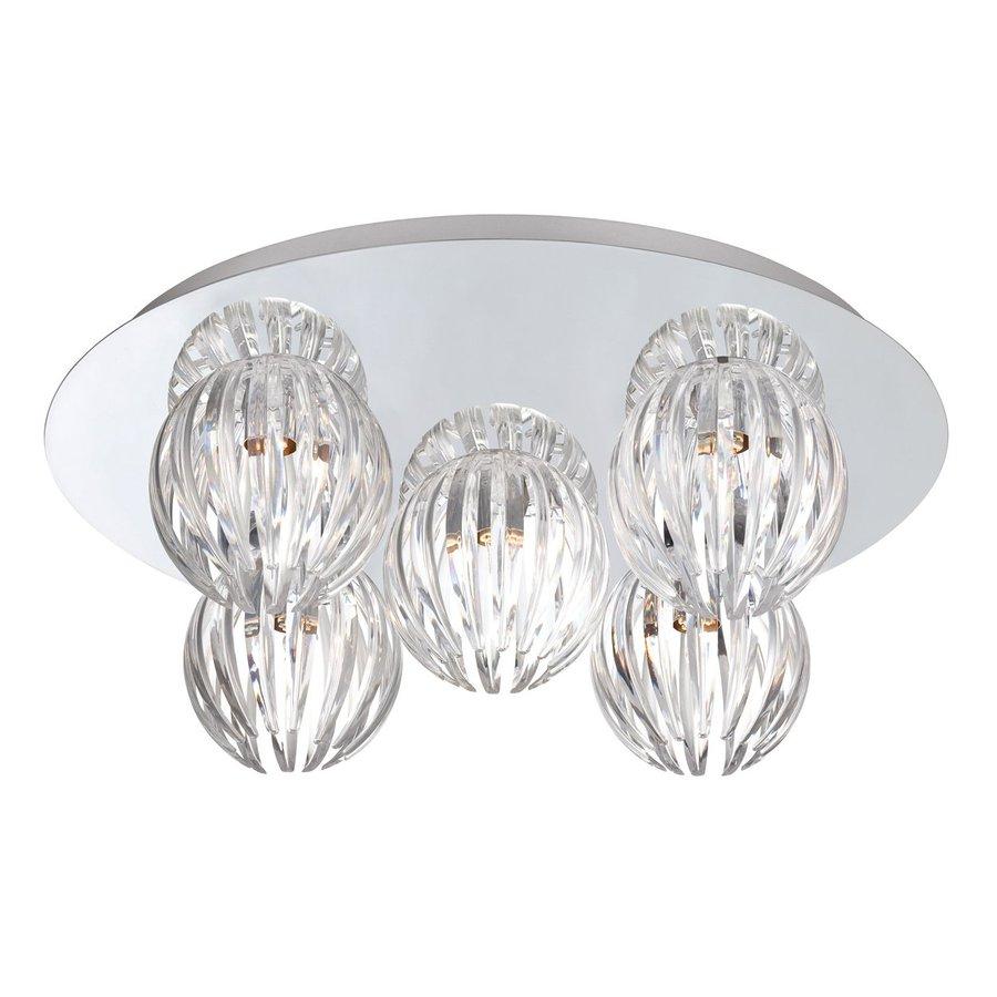 Eurofase Cosmo 17.75-in W Chrome Flush Mount Light