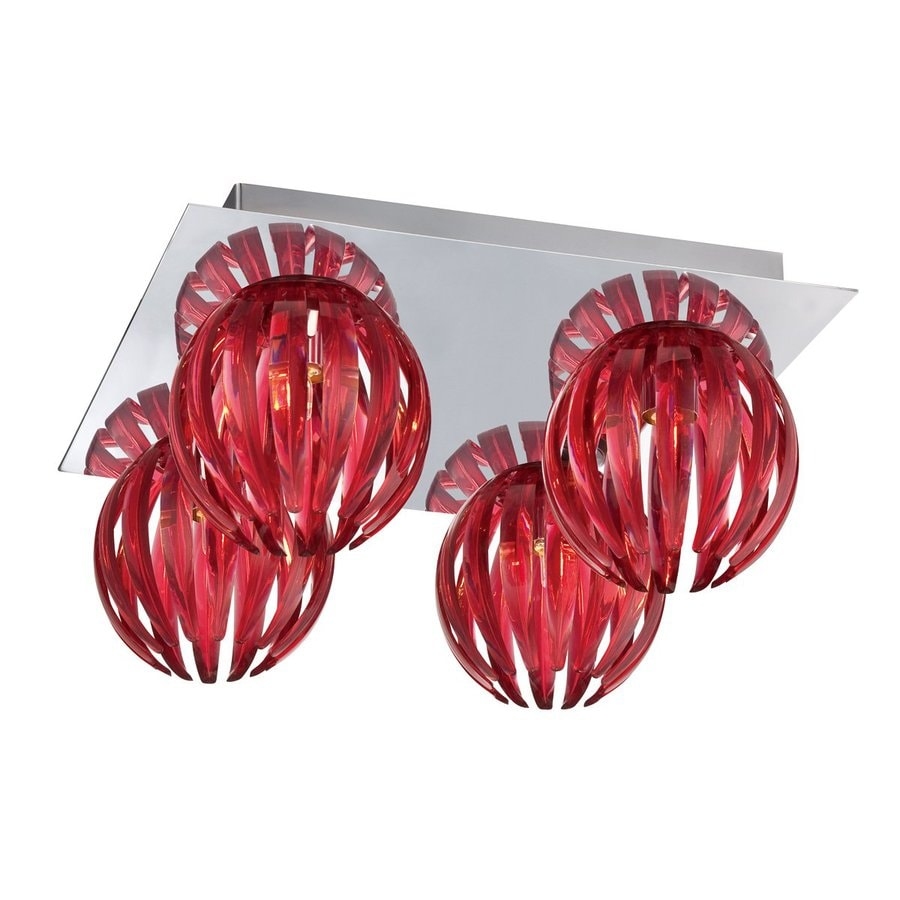 Eurofase Cosmo 11.5-in W Chrome Ceiling Flush Mount Light