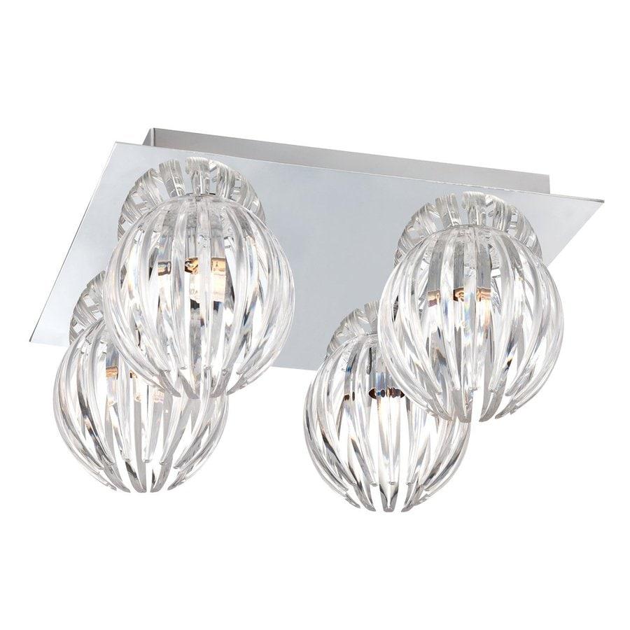 Eurofase Cosmo 11.5-in W Chrome Ceiling Flush Mount Light
