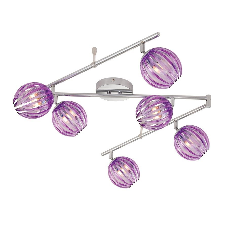 Eurofase Cosmo 6-Light 72.25-in Purple Flexible Track Light with Purple Glass