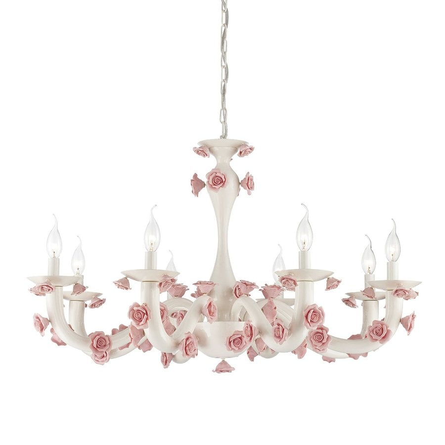 Eurofase Martina 36.5-in 8-Light White Kids Candle Chandelier