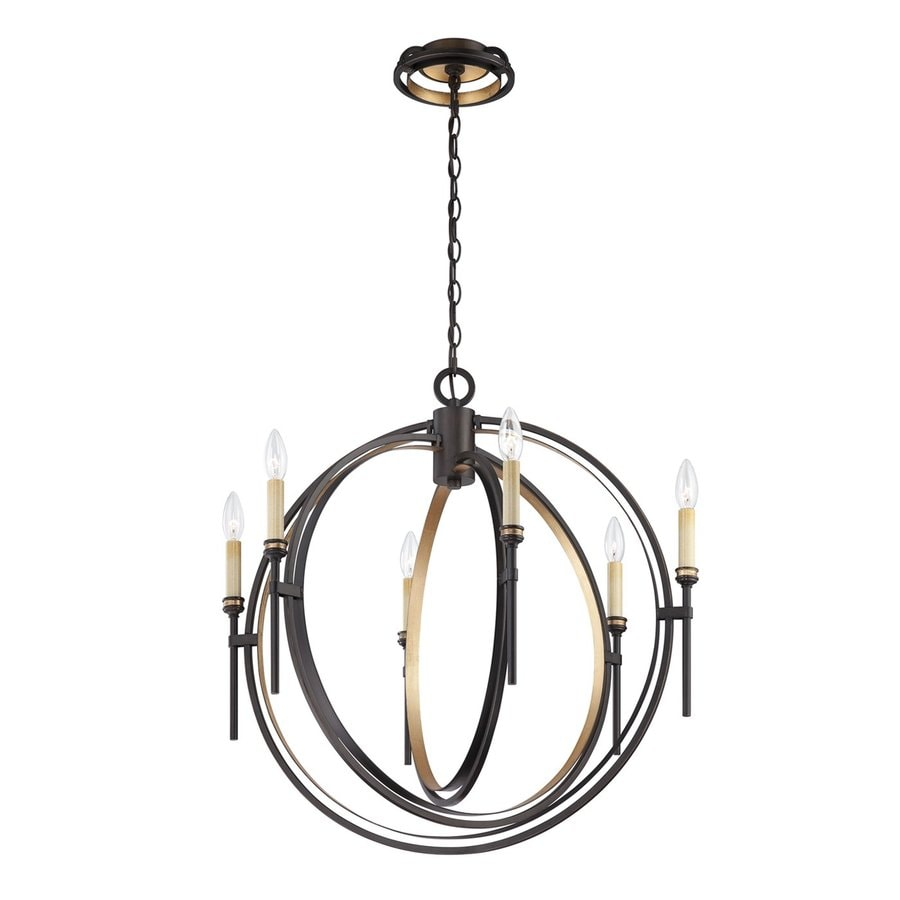Eurofase Infinity 26.75-in 6-Light Oil-Rubbed Bronze Candle Chandelier