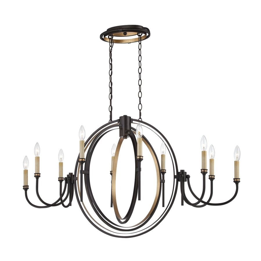 Eurofase Infinity 44.75-in 10-Light Oil-Rubbed Bronze Candle Chandelier