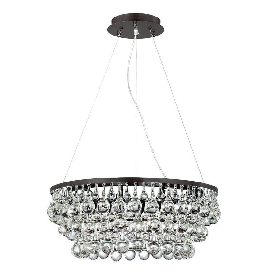 Eurofase Canto 24.5-in Oil-Rubbed Bronze Crystal Clear Glass Pendant