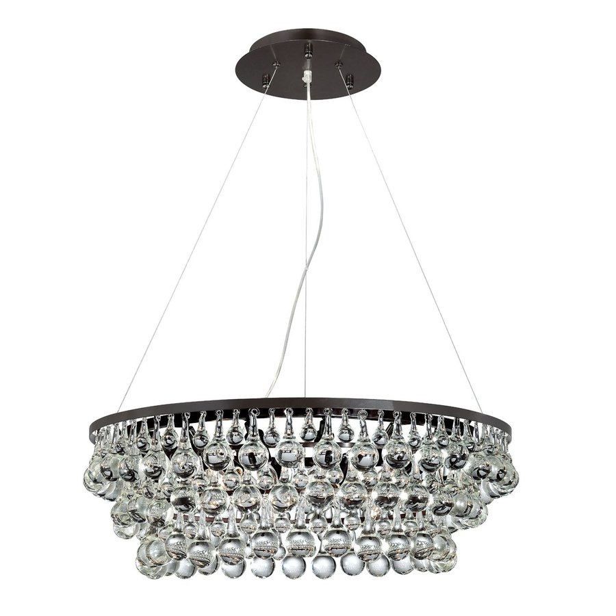 Eurofase Canto 28.5-in Oil-Rubbed Bronze Crystal Clear Glass Pendant