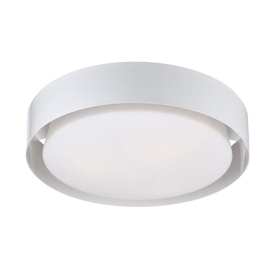 Eurofase Saturn 15.5-in W White Ceiling Flush Mount Light