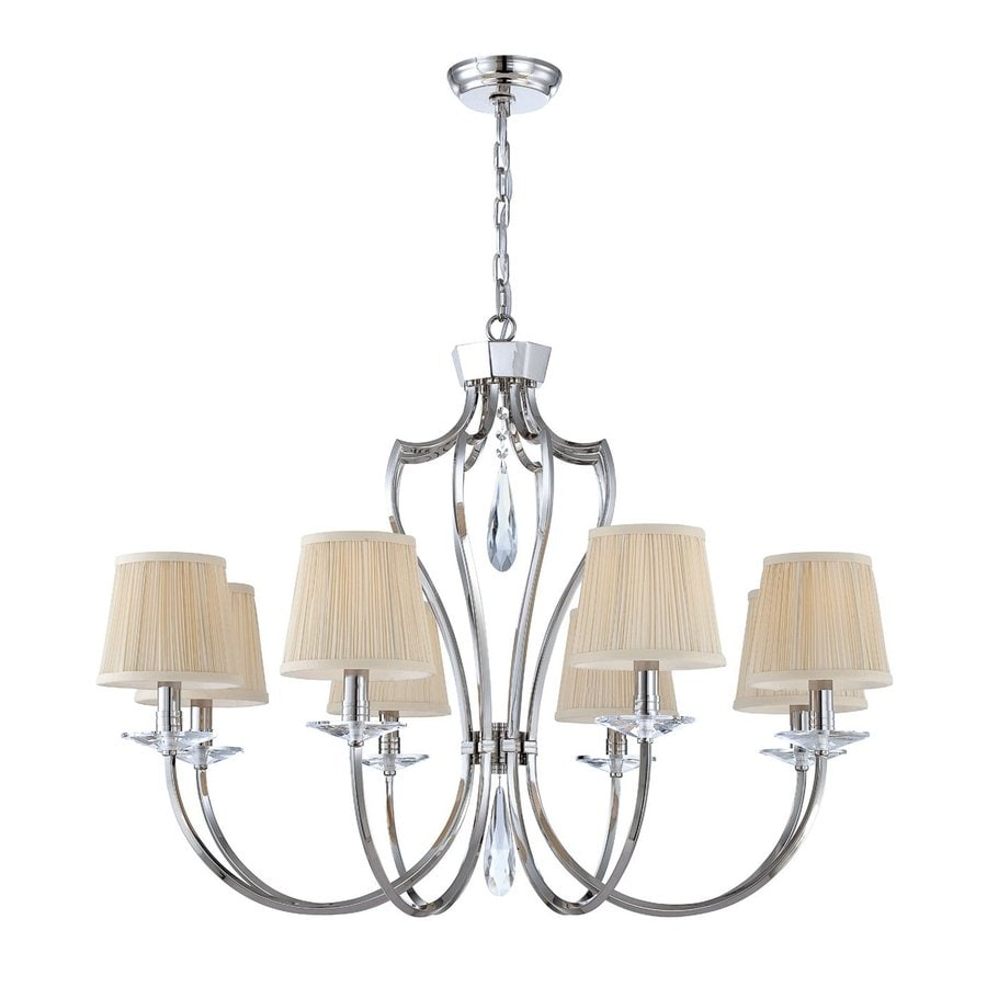 Eurofase Marta 33.75-in 8-Light Polished Nickel Shaded Chandelier