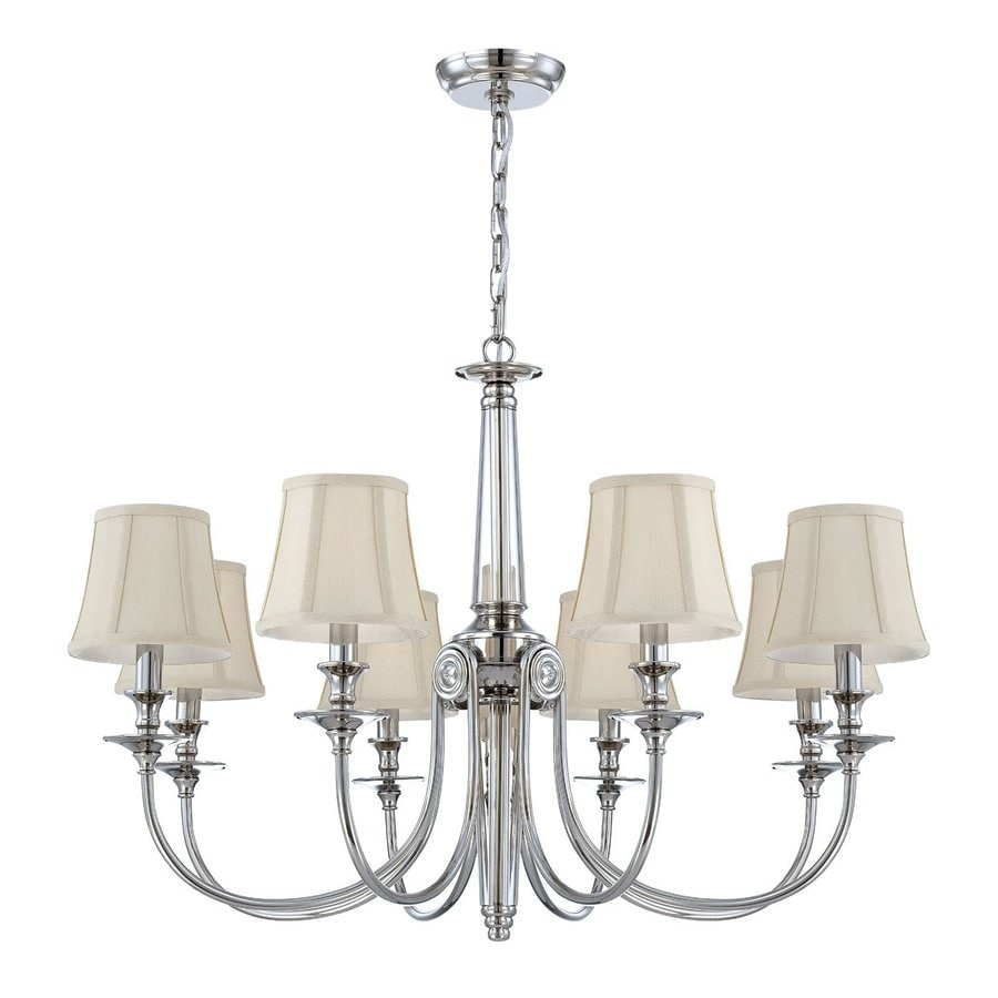 Shop eurofase mona 8 light polished nickel chandelier at lowes eurofase mona 8 light polished nickel chandelier arubaitofo Choice Image