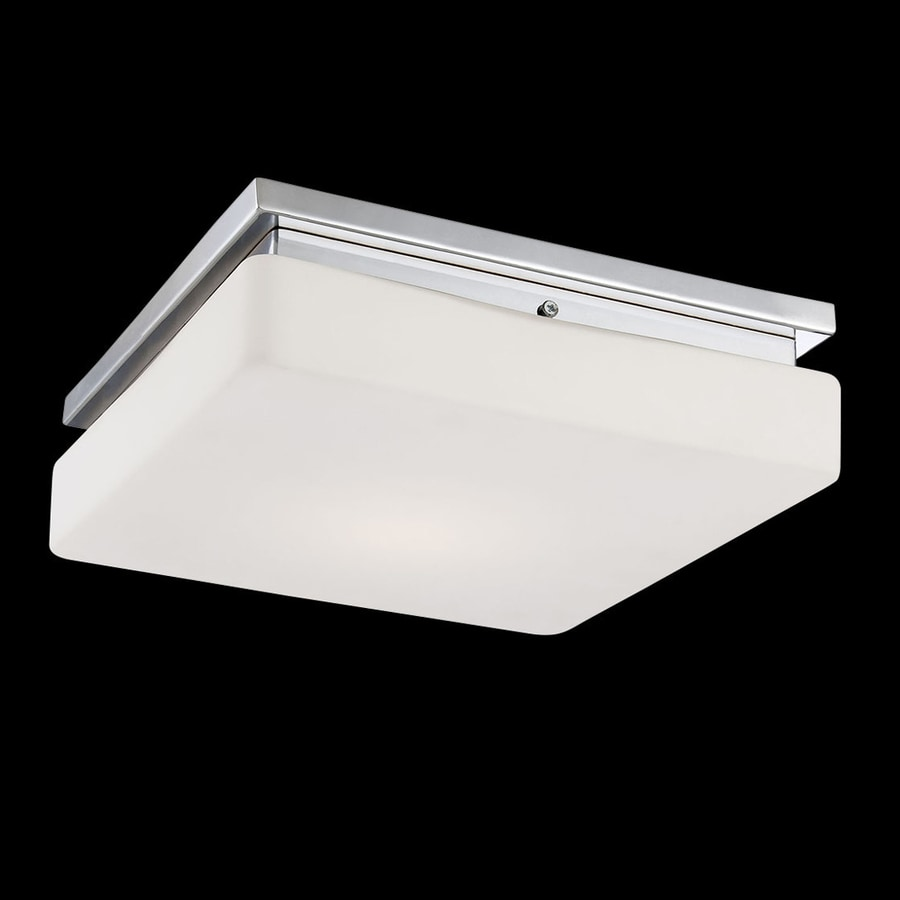 Eurofase Ellsworth 11.5-in W Chrome LED Ceiling Flush Mount Light