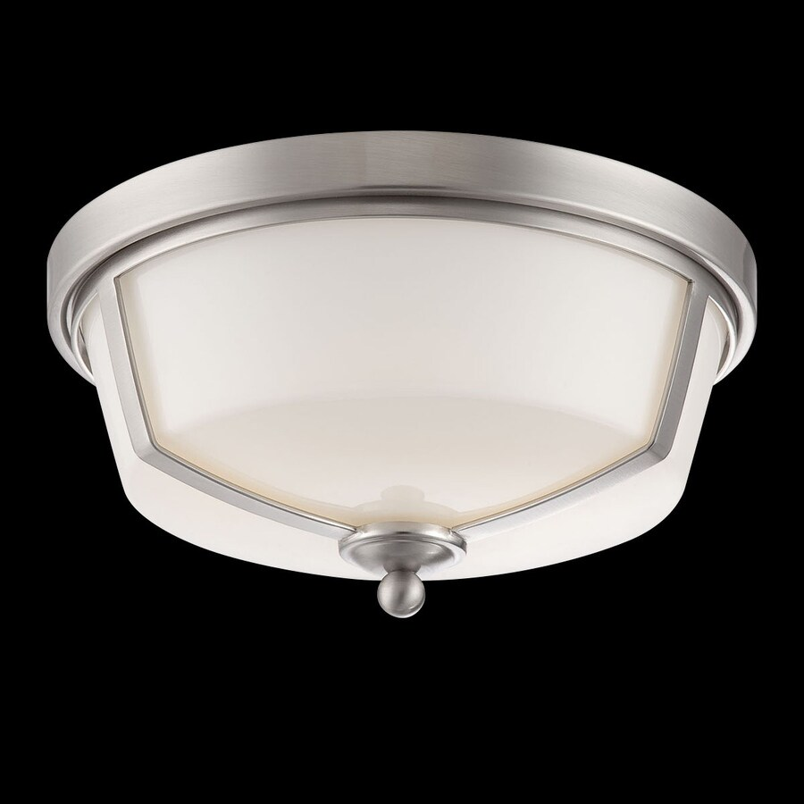 Eurofase Kate 12-in W Satin nickel LED Flush Mount Light