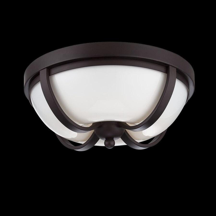 Eurofase Andrew 12.5-in W Bronze LED Ceiling Flush Mount Light