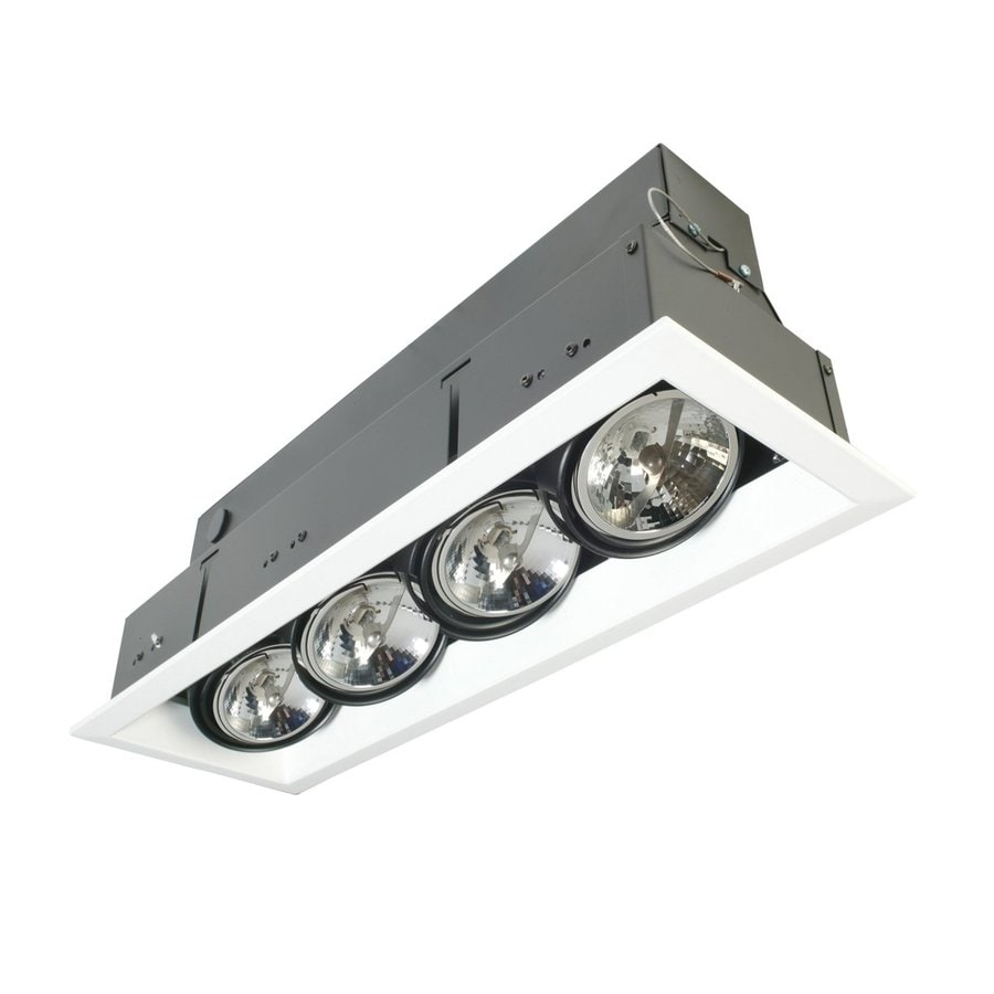 Led Recessed Ceiling Lights Lowes : Eurofase trim watt equivalent white led recessed
