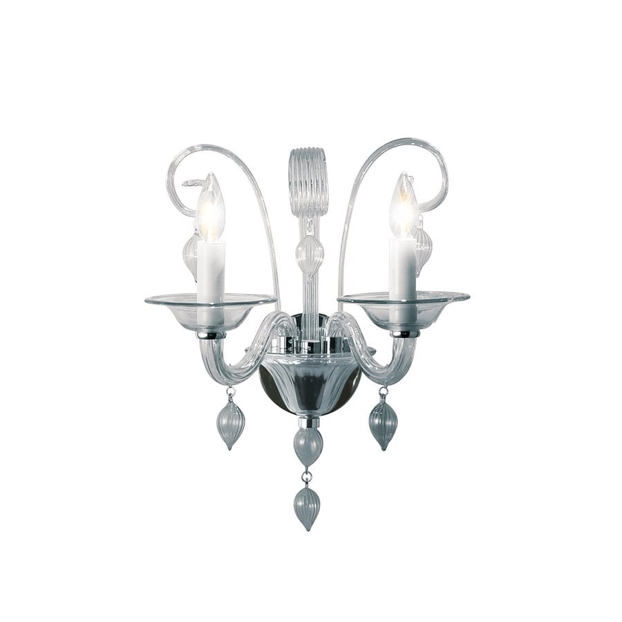 Eurofase Ciatura 16.12-in W 2-Light Chrome Candle Wall Sconce