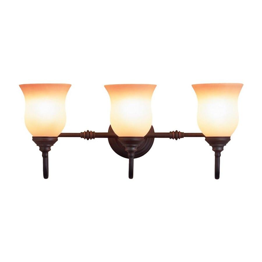 Eurofase Renfrew 3-Light 11-in Oil-Rubbed Bronze Bell Vanity Light