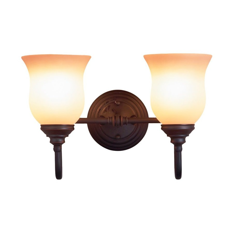 Eurofase Renfrew 2-Light 11-in Oil-Rubbed Bronze Bell Vanity Light