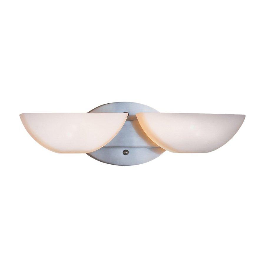 Eurofase Moonstone 2-Light 5-in Satin Nickel Bowl Vanity Light