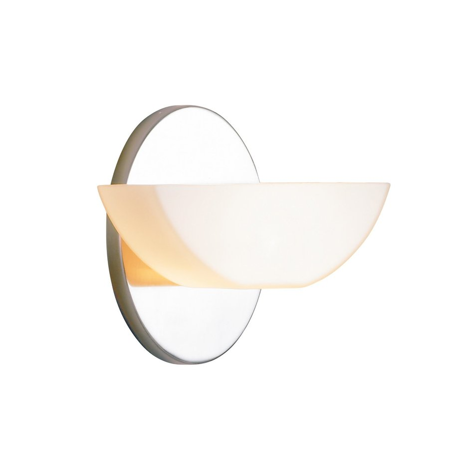 Eurofase Moonstone 1-Light 7-in Satin Nickel Bowl Vanity Light