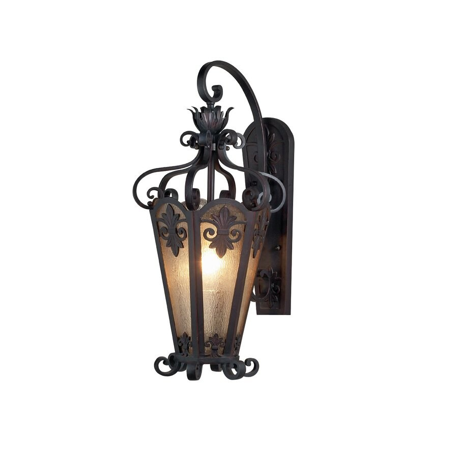 Eurofase Lonsdale 14-in W 1-Light Antique Sable Arm Wall Sconce