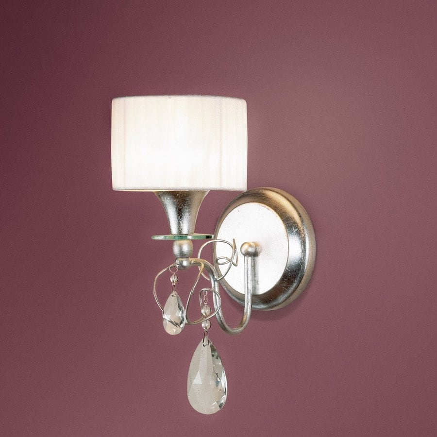 Eurofase Tempest 8-in W 1-Light Aged Silver Arm Wall Sconce