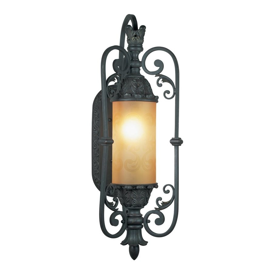 Eurofase Glenhaven 19-in W 1-Light Antique Rust Pocket Wall Sconce