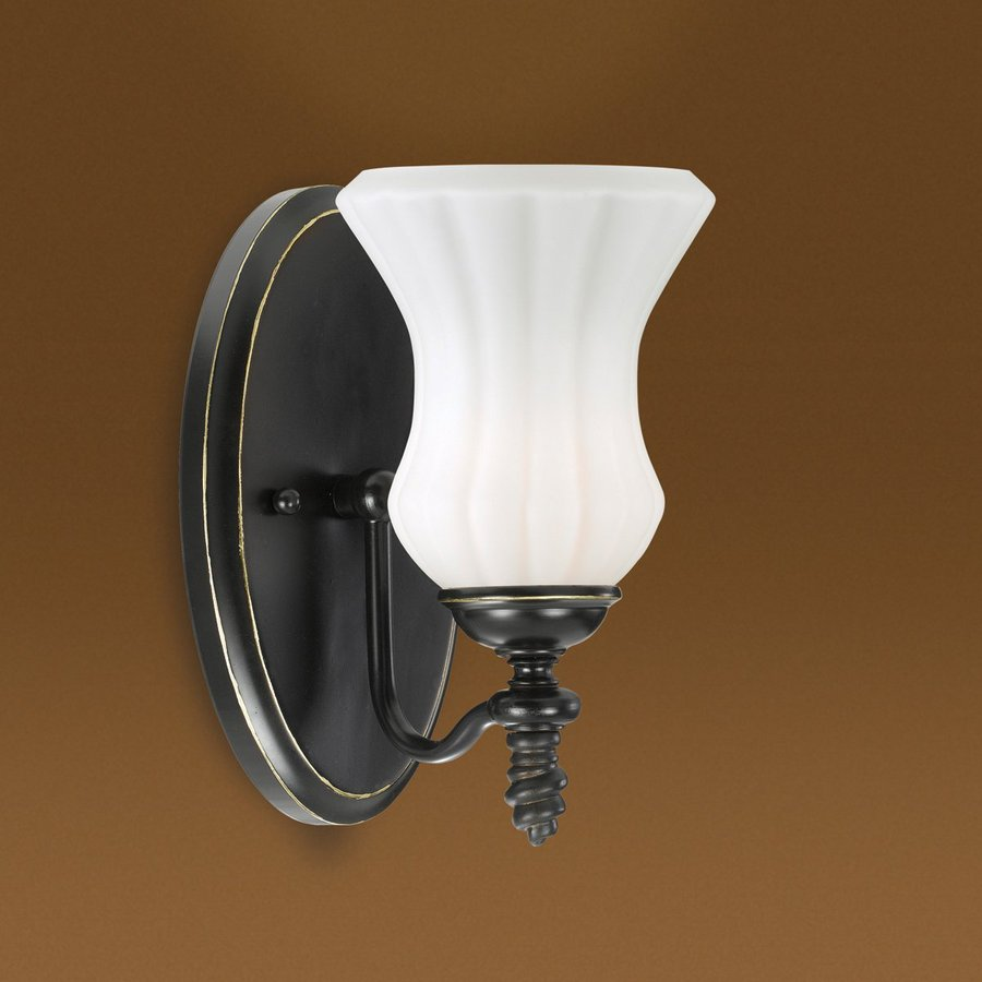 Shop Eurofase Amesbury 6-in W 1-Light Bronze Arm Wall Sconce at ...