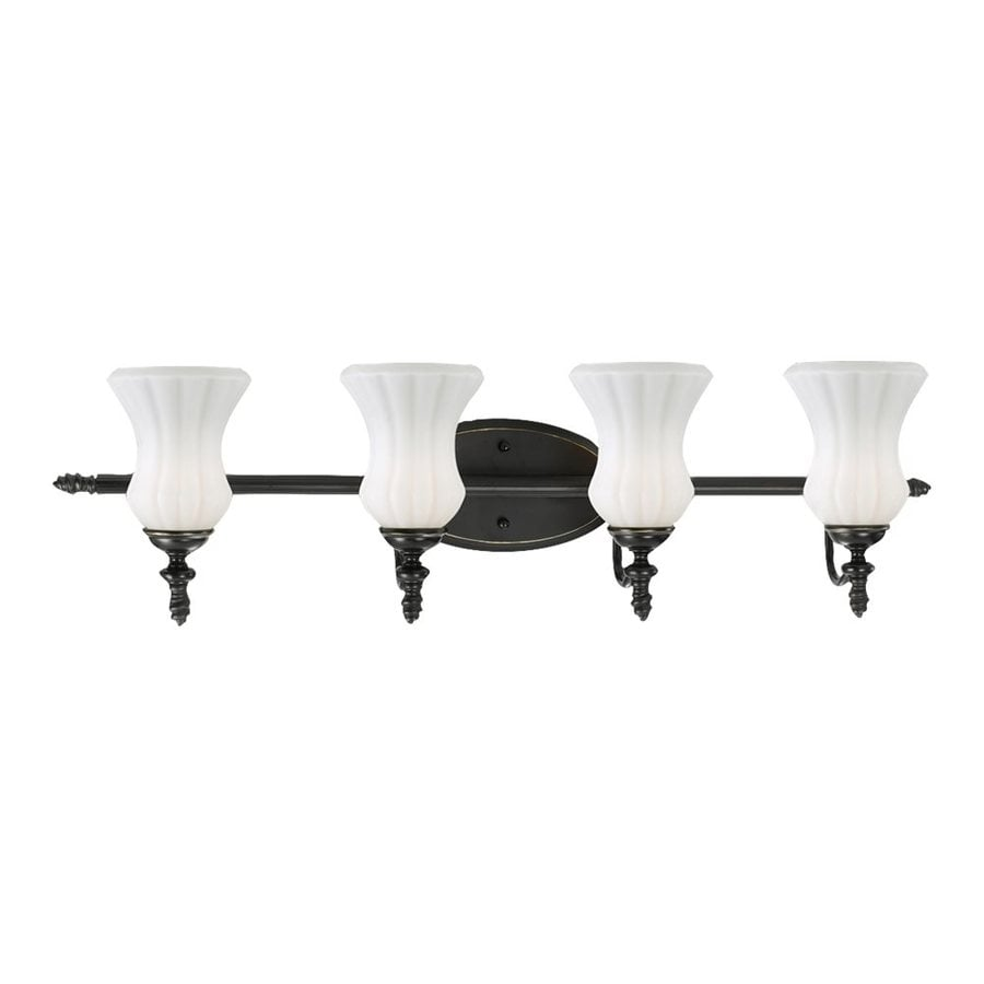 Eurofase Amesbury 4-Light Aged Bronze Bell Vanity Light