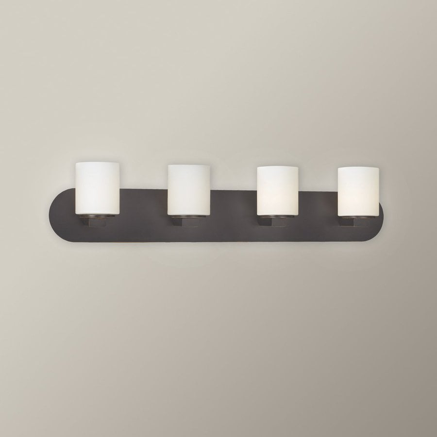 Eurofase Evry 4-Light 5.25-in Oil Rubbed Bronze Cylinder Vanity Light
