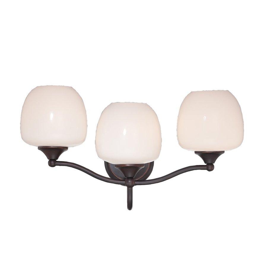 Eurofase Paloma 3-Light 11-in Oil-Rubbed Bronze Globe Vanity Light