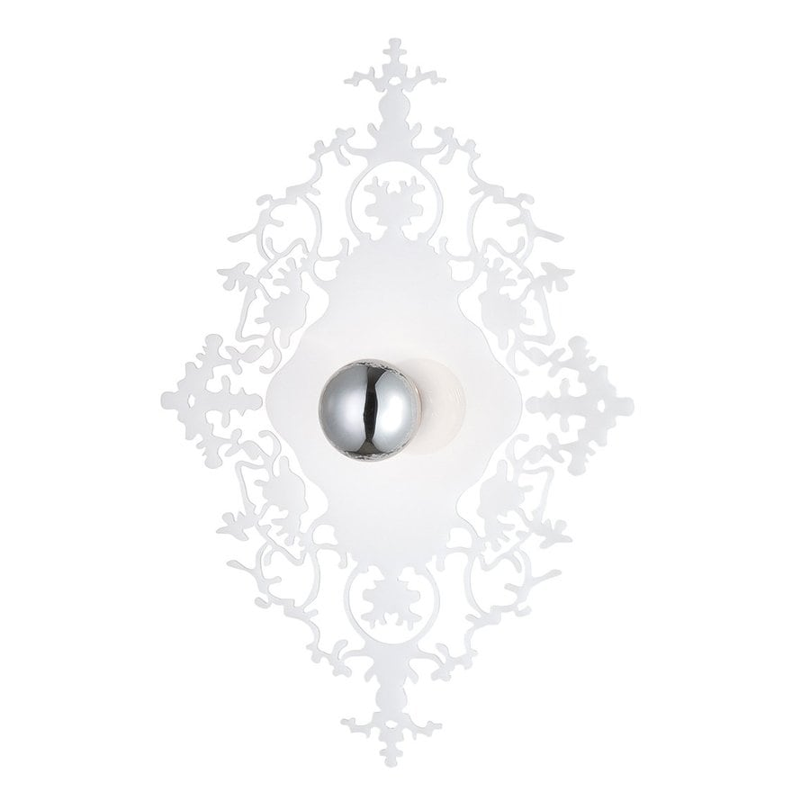 Eurofase Royal 15.25-in W 1-Light White Pocket Hardwired Wall Sconce