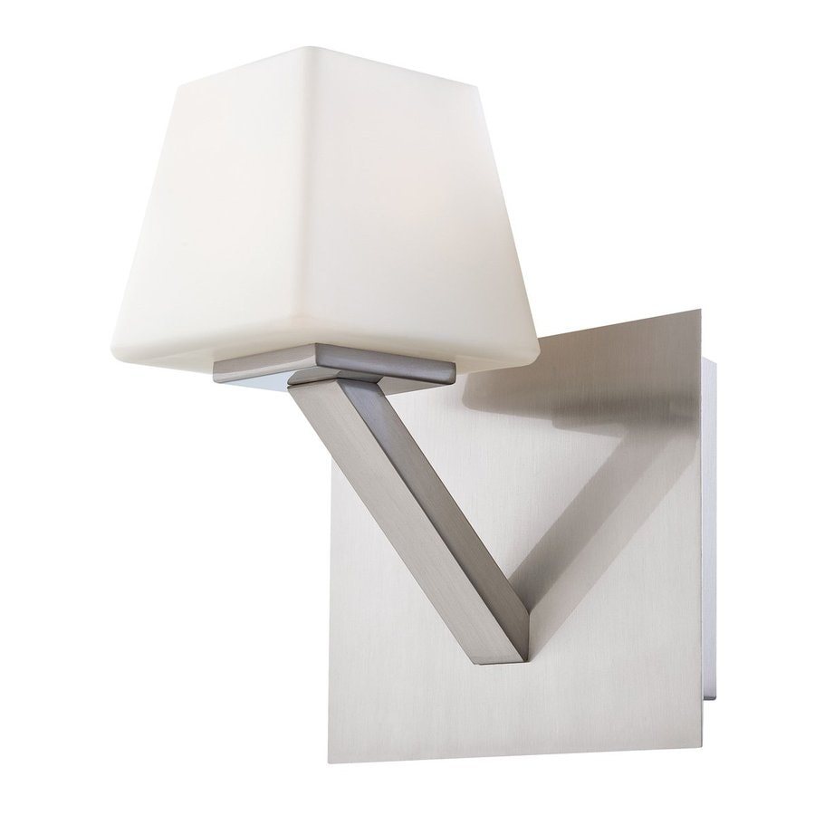 Eurofase Anglo 7-in W 1-Light Satin Nickel Arm Hardwired Wall Sconce