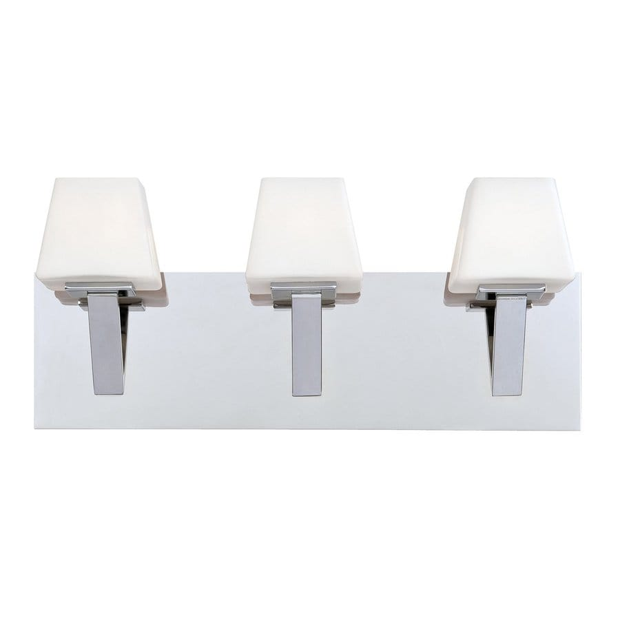 Eurofase Anglo 3-Light 8-in Chrome Vanity Light